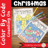 Color By Code Christmas Counting On Activity and Worksheet