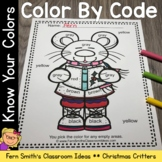 Color By Code Christmas Critters Know Your Colors