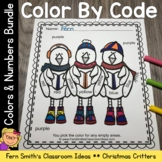 Color By Code Christmas Critters Know Your Numbers and Kno