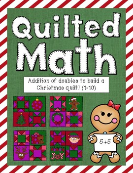 Color By Code - Christmas Quilt (Addition of Doubles 1-10)