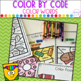 Color By Code- Color Words