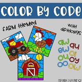Color By Code - Diphthongs - Farm Themed
