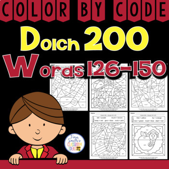 Color By Code Dolch 200 Words 126-150