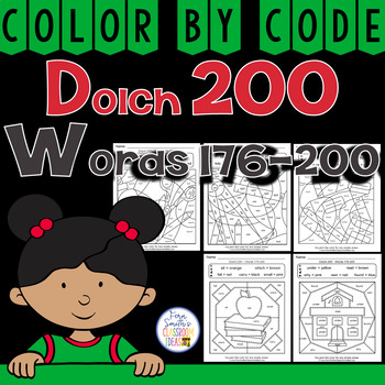 Color By Code Dolch 200 Words 176-200