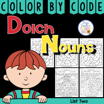 Color By Code Dolch Noun List 2