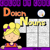 Color By Code Dolch Noun List 4