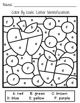 Color By Code Fall Edition: Literacy and Math Activities