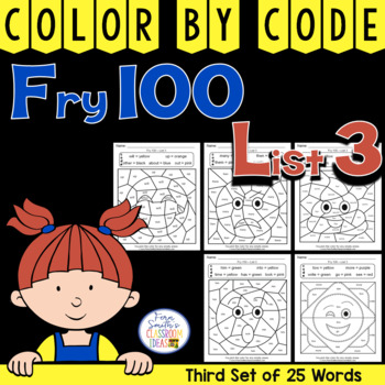 Color By Code Fry 100 Words List Three
