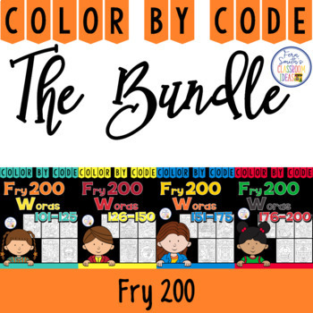 Color By Code Fry 200 Discounted Bundle