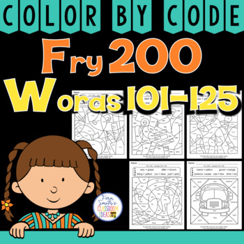 Color By Code Fry 200 Words 101-125