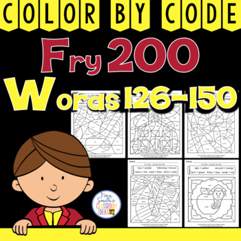 Color By Code Fry 200 Words 126-150