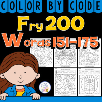 Color By Code Fry 200 Words 151-175