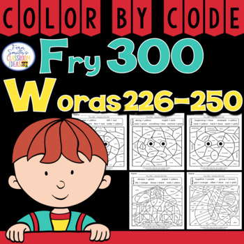 Color By Code Fry 300 Words 226-250