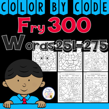 Color By Code Fry 300 Words 250-275
