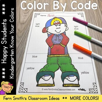 Color By Code Happy Students MORE Know Your Colors