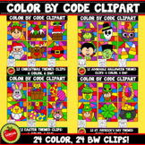 Color By Code Holidays Bundle