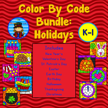 Color By Code: Holidays GROWING BUNDLE