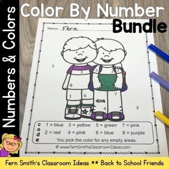 Color By Code Know Your Numbers and Know Your Colors While Making New Friends