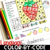 Color By Code Language Activity for Speech and Language Therapy