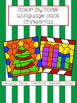 Color By Code: Language Pack Christmas