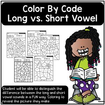 Color By Code - Long Vowel vs. Short Vowel