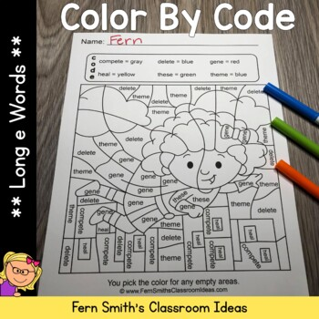 Color By Code Long e Words