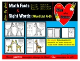Color-By-Code Math Fact and Sight Word Practice With Silas