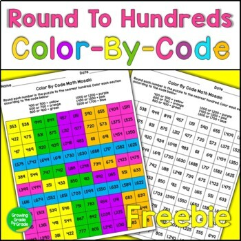 Color By Code Math Mosaic FREEBIE