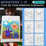 Monsters  Activities - Color By Code