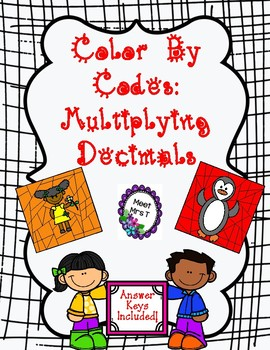 Color By Code Multiplying Decimals!