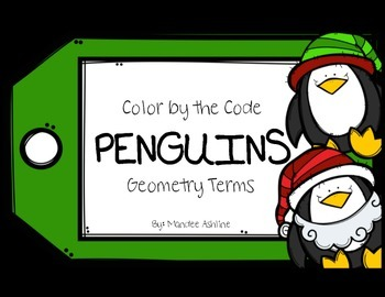 Color By Code (Number): Geometry Penguins! {Operation E.L.F}
