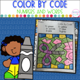 Color By Code- Numbers and Number Words