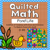 Color By Code - Pond Life Quilt (Addition of Doubles 1-10 With Dice and Dominos)
