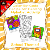 Color-By-Code Recipe for Reading Alphabet Activity