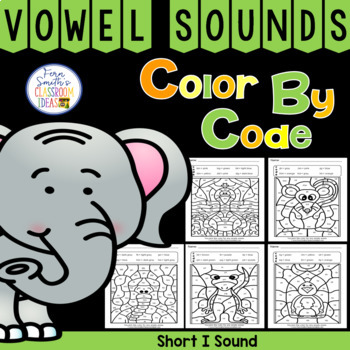 Color By Code Short i Words