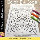 Short o CVC Words Color By Code Short o Vowels