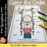 Color By Code Spring Time Know Your Colors