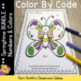 Color By Code Spring Time Know Your Numbers and Know Your