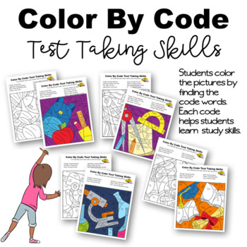 Color By Code Test Taking and Study Skills