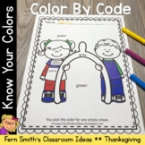 Thanksgiving Color By Code Thanksgiving Feast Know Your Colors