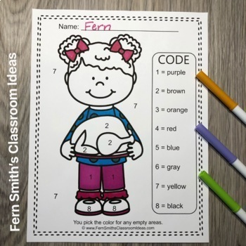 Color By Code Thanksgiving Feast Know Your Numbers and Know Your Colors Bundle