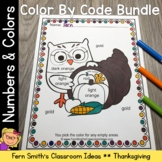 Thanksgiving Color By Code Fun Know Your Numbers and Know