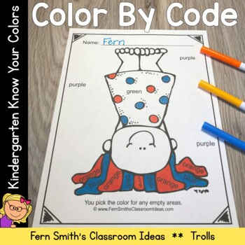 Color By Code Trolls Know Your Colors