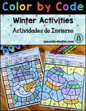 Color By Code Winter Activities (Spanish)