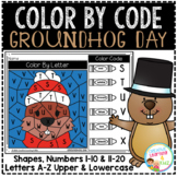 Color By Code Worksheets: Groundhog Day