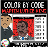 Color By Code Worksheets: Martin Luther King Day