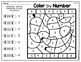 Color By Code Worksheets - Numbers and Alphabet Letters Plants