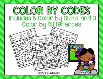 Color By Codes: Sums and Differences