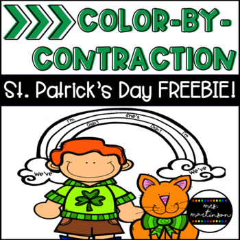 Color-By-Contraction St. Patrick's Day FREEBIE