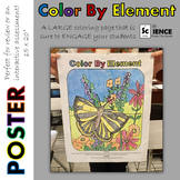 Color By Element Poster for Review or Assessment of Metal Nonmetal and Metalloid